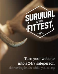 survival of the fittest representing effective web design by Christchurch web designers at Alexanders