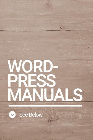 Word Press Manuals